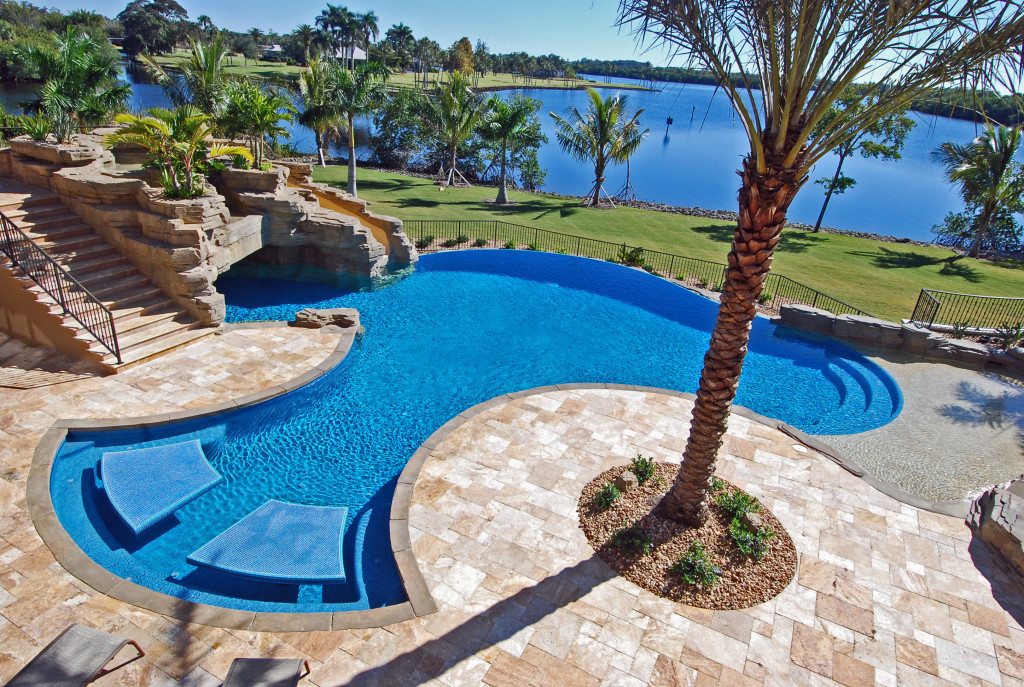 Jackson pools inc serving estero naples fort myers for Custom inground swimming pools