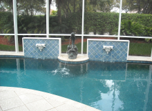 SAYSET-FINISHED POOL-DOLPHIN FOUNTAIN